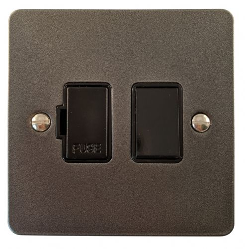 G&H FP57B Flat Plate Pewter 1 Gang Fused Spur 13A Switched